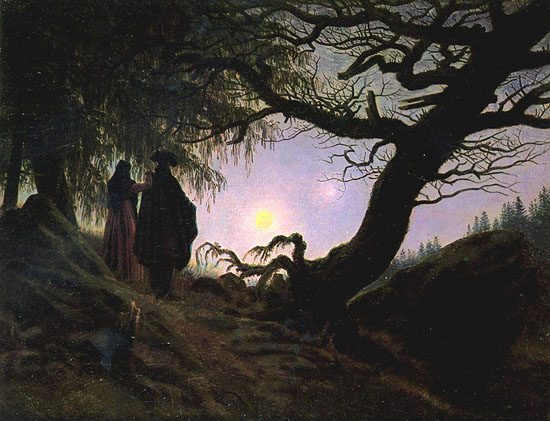 Friedrich-Man-and-Woman-Contemplating-the-Moon