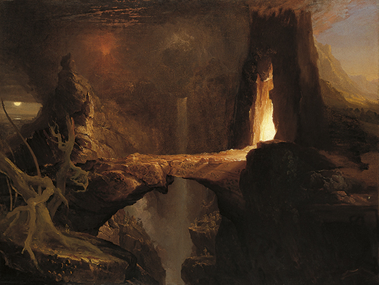 Thomas-Cole-Expulsion-Moon-and-Firelight