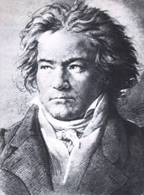 Another popular image of Beethoven