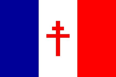 he flag of Free France, which contains the Cross of Lorraine