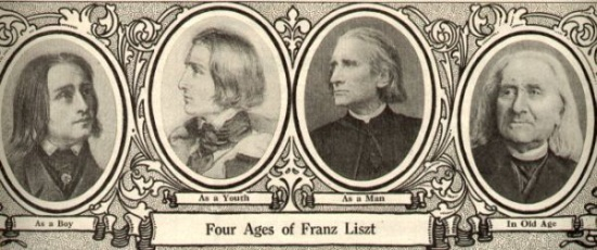 The four ages of Franz Liszt