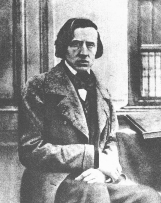 The only known photograph of Chopin, taken in 1849