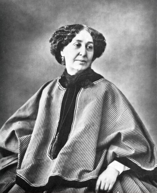 A photo of George Sand taken in 1864 (when she was 60 years old).