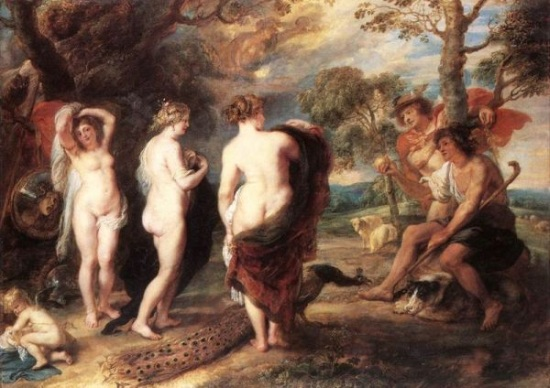 The Judgement of Paris, Peter Paul Rubens, ca 1636